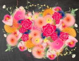Floral on Chalkboard JPEG