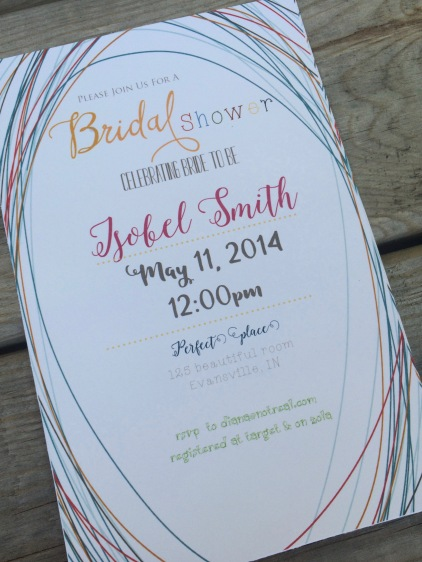 Hand drawn swirly background Bridal Shower invite