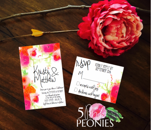 Bold Watercolor Invitaion Suite Design