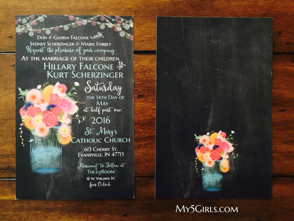 Hand-drawn Colorful Floral Jar Suite Invitation