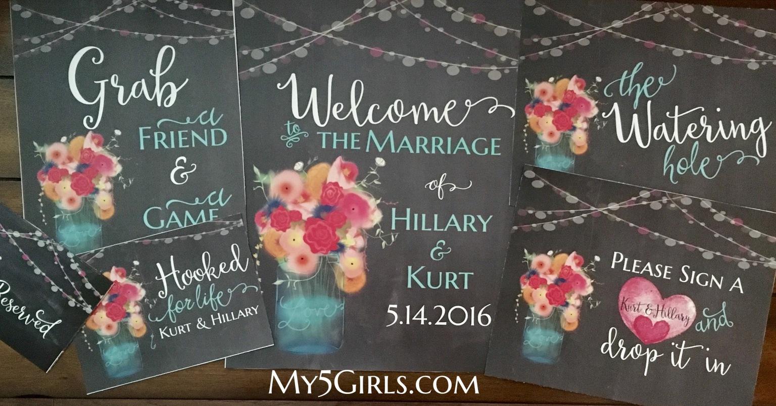 Wedding Sinage to match invitations