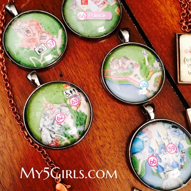 Disney Map Necklaces