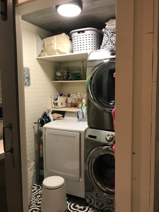 Laundry room in remodeled Bathroom